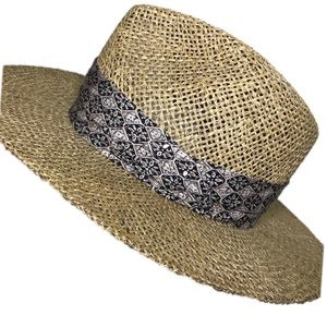 343558622b0eb •Stetson• centerdent panama straw hat Sz S M NWOT